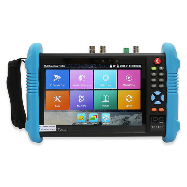 CCTV Tester 7 Inch All in One IPS Touch Screen IP Camera Tester Security Monitor with SDI/TVI/AHD/CVI/POE/WIFI/4K H.265/1080p HDMI