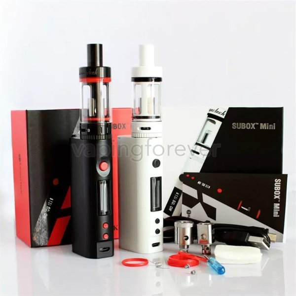 Top-Qualität Kanger Subox Mini-Starter-Kit Sub Tank Mini 4,5 ml Zerstäuber Variable Wattage KBOX Kangertech Box Mods e Zigarette Zigaretten Kit