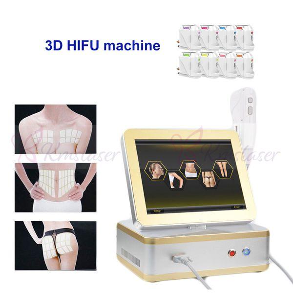 Portátil 3d hifu máquina de uso doméstico beleza equipamentos de Alta Intensidade Focada Ultrasonografia hifu remoção de rugas anti envelhecimento face lift corpo emagrecimento