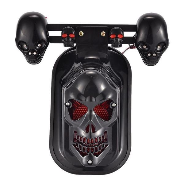 Skull Turn Signal Brake Rear Tail Light Fits Harley Chopper Motorcycle Quad ATV