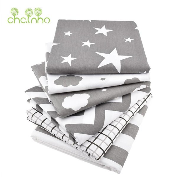 6pcs/Lot Print Cotton Fabric For Sewing Doll Baby Bedding Clothes Dress Skirt Patchwork Cloud&Star Material 40x50cm
