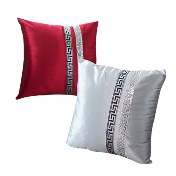 1 unidades de lujo funda de almohada de oro de terciopelo lentejuelas fundas de almohada para ropa de cama silla 45x45 cm casos de boda 120 g
