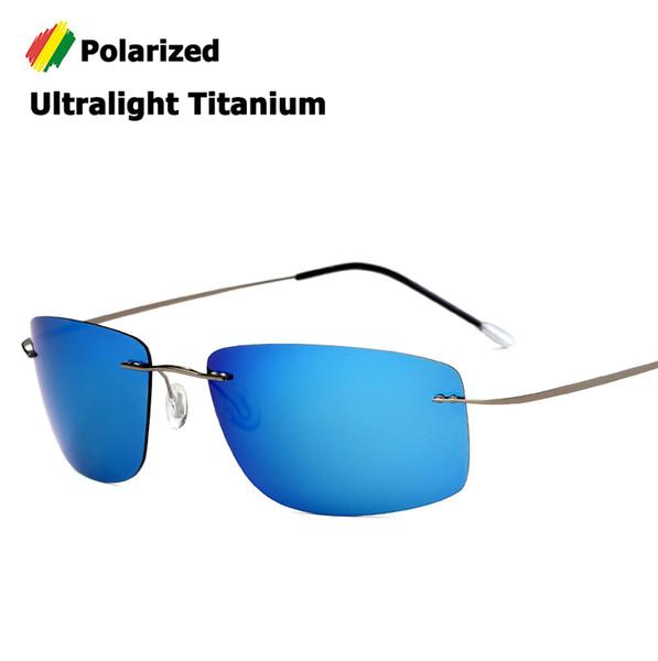 JackJad Nouvelle Mode Sans monture Carrée Style Titane POLARISÉE lunettes de soleil Ultra-Léger Conduite Marque Design Lunettes de Soleil Oculos De Sol D18101302