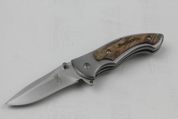 Top qualité Brow petit 337 poche couteau pliant 440C 56HRC Satin Blade couteau Camping en plein air randonnée EDC couteau de poche Couteaux-cadeaux