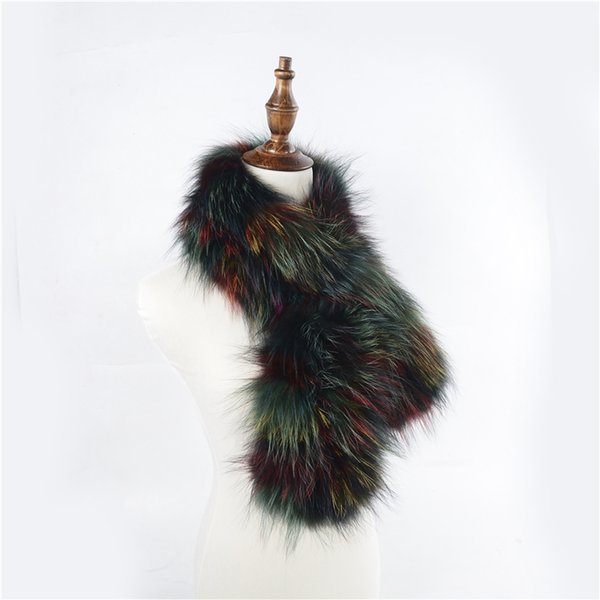 2018 New Real Fox Fur Scarves Winter Thick Warm Top Quality Shawl Natural Fur Muffler