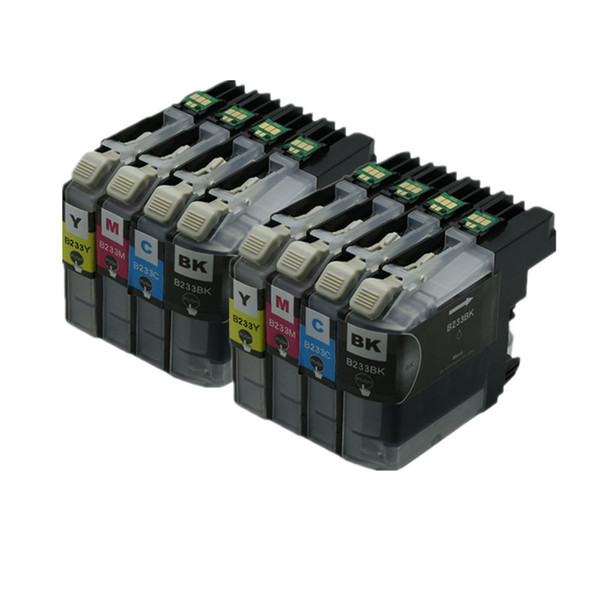 2018 8PK LC233 LC 233 Ink Cartridges Compatible For Brother Printers MFC  J4620DW MFC J5720DW MFC J5320DW DCP J4120DW Printer Cartridges Inkjet Fu  From