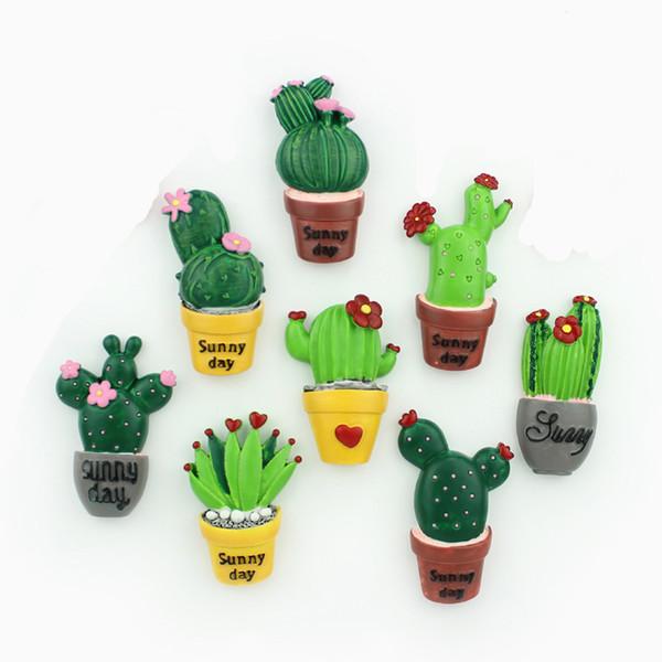 8 unids / 1set El Nuevo Creativo lindo cactus carnoso Imanes de neodimio Fuerte Nevera refrigerador Decoración del hogar Imán oficina foto Publicar mensaje