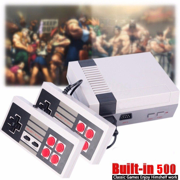 Classic Mini AV/TV Game Console can store 500/620 games Video Handheld for NES games consoles with small retail boxs