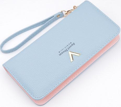 Brand Designer Leather Wallets Women Purses Zipper Long Purses Card Holders Clutch Wristlet Phone Wallets Female