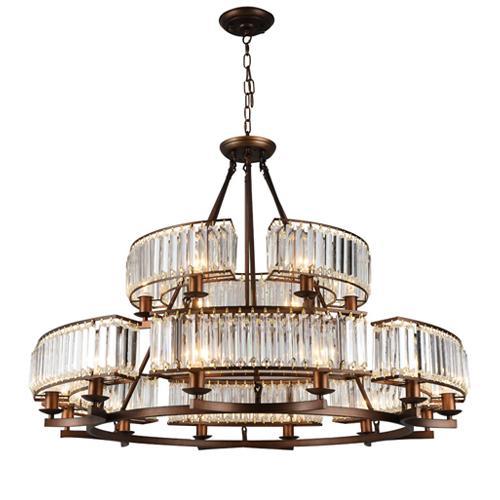 Crystal chandeliers living room bedroom bronze pendant lamps retro minimalist country restaurant lights classic led pendant chandelier