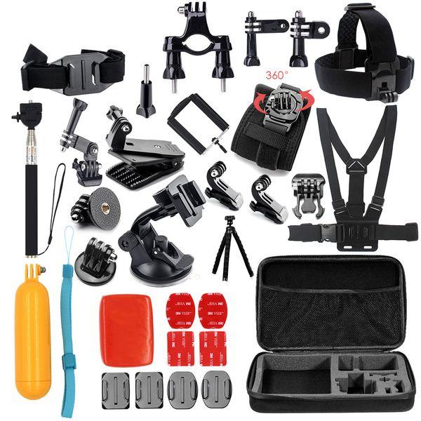 Freeshipping action camera accessories Tripod Mount hero 5 6 session For GoPro Hero 4 3 plus xiaomi yi 4k