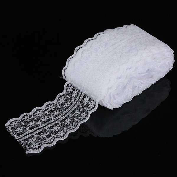 45mm width Cheap Lace Fabric Trim Ribbon 10yard/lot DIY Garment Accessories embroidered lace ribbon Bilateral Free shipping