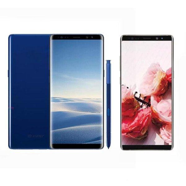 Goophone 6.3 inch Note 8 Note8 Cell Phone Quad Core Android 6.0 Show fake 4GB/64GB Fake 4G LTE Smartphone Free Shipping