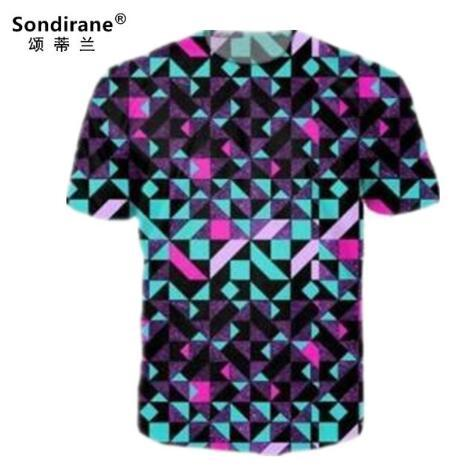 Sondirane Newest Short Sleeve T Shirts Women/Mens 3D Print Psychedelic Geometry Casomen/Men Crewneck Streetwear Tops Quick Dry Clothing Tees