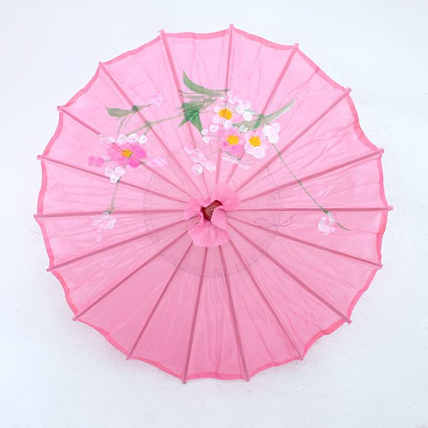 "[ Fly Eagle ] Chinese Japanese Oriental Umbrella Parasols 22"" Transparent Hot Pink"