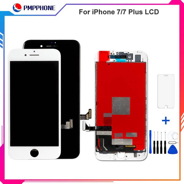 LCD Display touch screen replacements for iphone 7/7plus + Repair Opening Tool Kit Set+Tempered Glass Film Screen Protector AAA quality