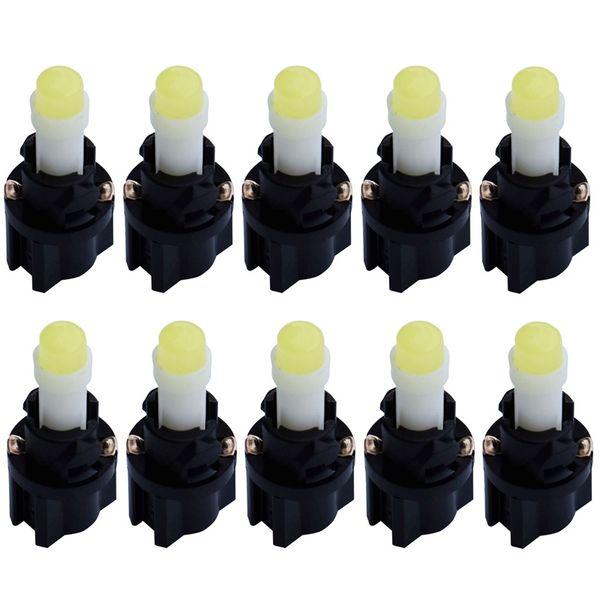Segnale Lampada 10X T5 1.2W W2X2.6d Con 11 millimetri Diametro Max V-2 Supporto Socket COB LED dell'automobile Cruscotto luce auto del Quadro strumenti Lamp