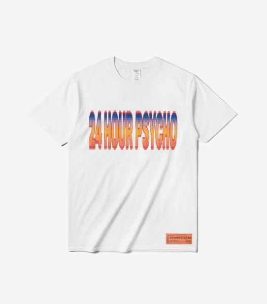 Designer T-Shirts Heron Preston Letter Printed White Fashion O Neck Hip Hop Men Casual T-shirts S-3XL