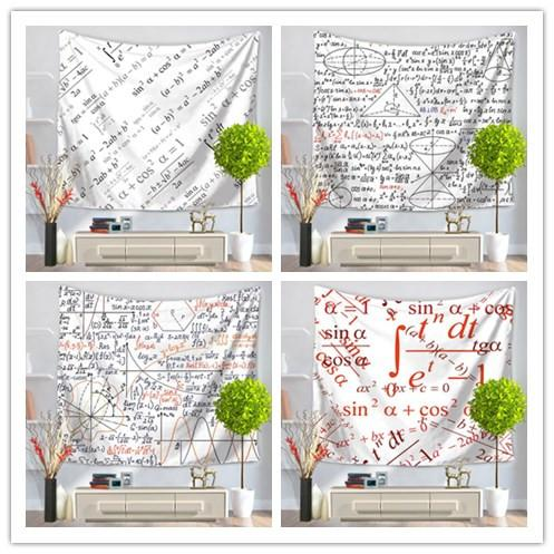 Creative math question tapestry 6 design wall hanging fresco home decoration yoga mat beach towel picnic blanket sofa cover party backdrop