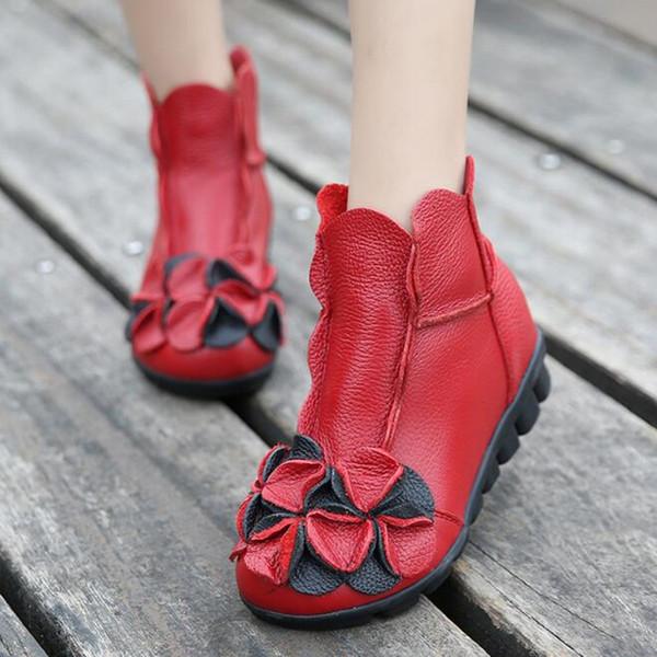 Rote einzelne Stiefel