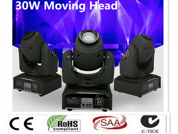 best selling DMX Stage Spot Moving LED Mini Moving Head Light 30W DMX dj 8 gobos effect stage lights