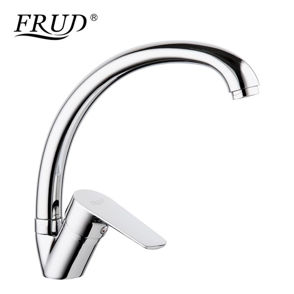 wholesale Hot Sale Solid Kitchen Mixer Cold and Hot Water Flexible Kitchen Sink Faucet Single Lever Filter Tap robinet cuisine R41105