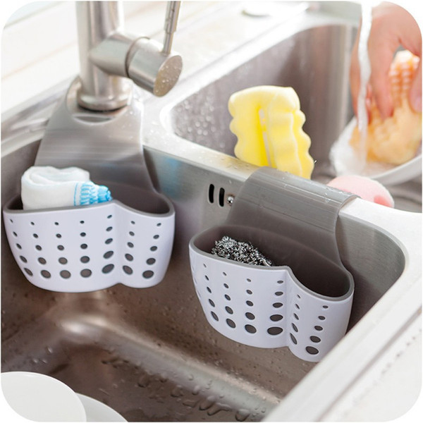 Silicone Hanging Storage Holders Soap Sponge Drain Rack Storage Double Holders for Kitchen Bathroom Accessory