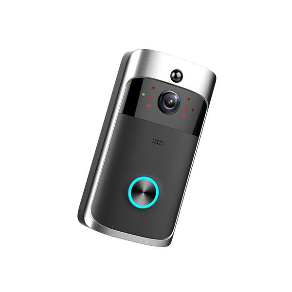Akıllı Kablosuz Görüntülü Kapı Telefonu WiFi Güvenlik Kapı Zili Akıllı Görsel Kayıt Düşük Güç Tüketimi Uzaktan Ev Izleme