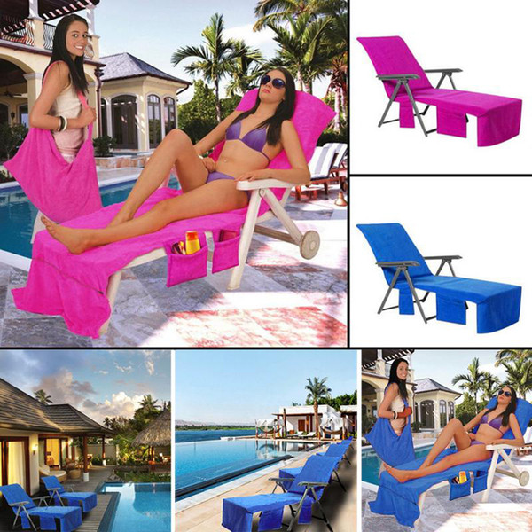 210x73cmMicrofiber Fiber Sunbath Lounger Bed Mate Chair Cover Holiday Leisure Garden Beach Towel Beach Towels 3 Colors