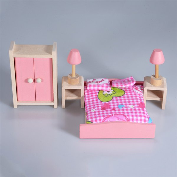 Beautiful And Cute Doll House Set Pretend Play Furniture Set Classic Kids Toy Gift For Girl High Quality