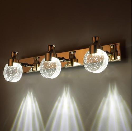 Modern LED Kabarcık Kristal Banyo Duvar Lambası Ayna Ön Duvar Işık Tuvalet parfüm şişesi kristal Abajur duvar Aplikleri LLFA