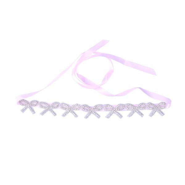 Women Belt Ribbon Crystal Portable Small Fresh Rhinestone Wedding Dress Bridesmaid Bride Decorative Belt fashion women belts