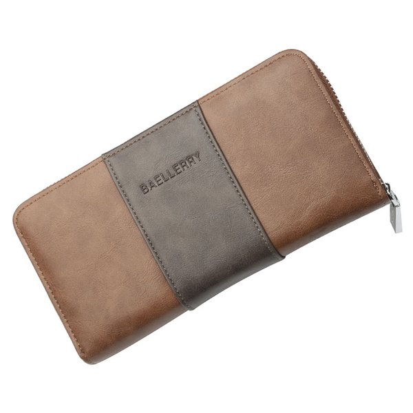 Men Wallets Classic Long Style Card Holder Male Purse High Quality Zipper Large Capacity Big Brand Luxury Wallet For Men
