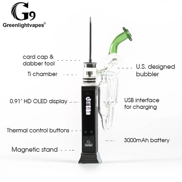 G9 TC LED Enig Rig Kit يمكن أن يصل إلى 800 درجة فهرنهايت مع 4 اختيارات مختلفة من الأظافر وتصميم جديد