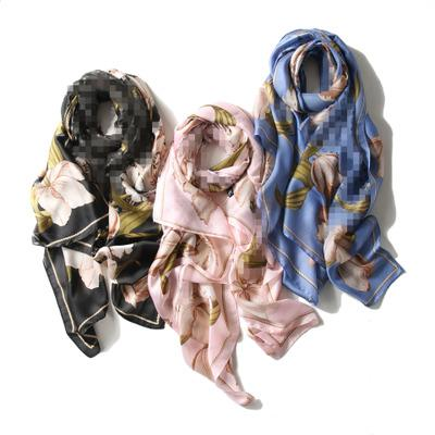 New Design Women 100% Real Silk Big Square Silk Scarves For Lady Luxury scarf and shawls Pashmina Wraps For Spring,Summer,Autumn,Wi