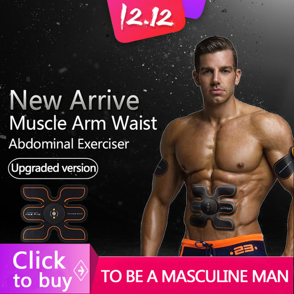 New Promotion Rechargeable Battery Gym Electronic Body Muscle Arm Waist Abdominal Exerciser Muscle Massaging Machine Viberating Slim Belt