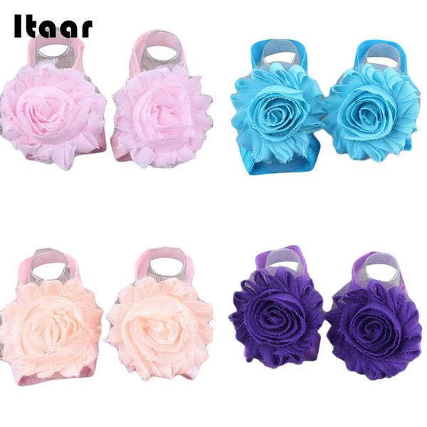 Baby Foot Flower Band Anklets Chiffon Infants Toddler Children Decor Fashion