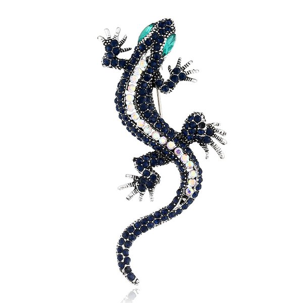 Europe and the United States retro fashion gecko brooch trend alloy pin animal corsage collar needle clothing jewelry