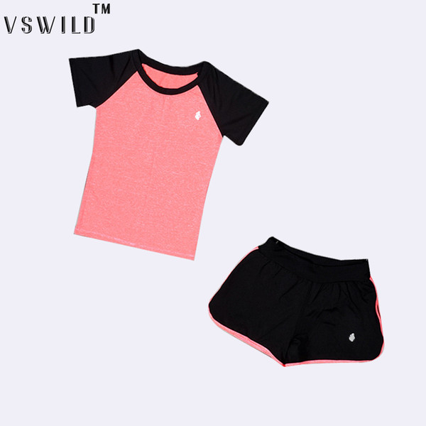 Women Yoga 2 PCS And 3 PCS Suits Running Tracksuit Short Sleeve Jogging Set Fitness Shorts Sports Trousers Outdoor Gym Slim Bra