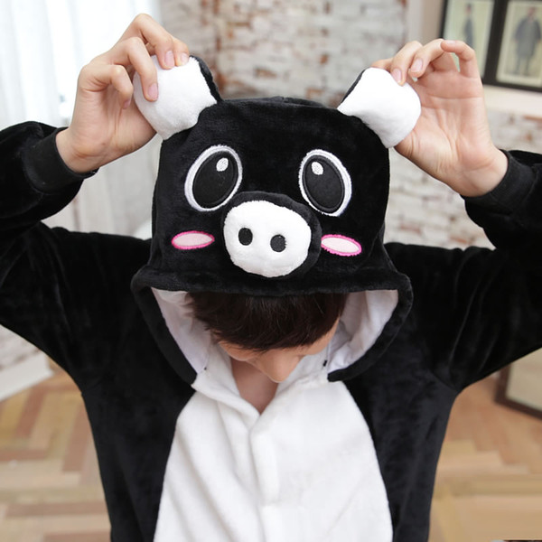 Women Unicorn Pajamas Sets Flannel Animal Pyjamas Winter Unicorn Onesies Whole One Piece Cosplay Costume Sleepwear Homewear