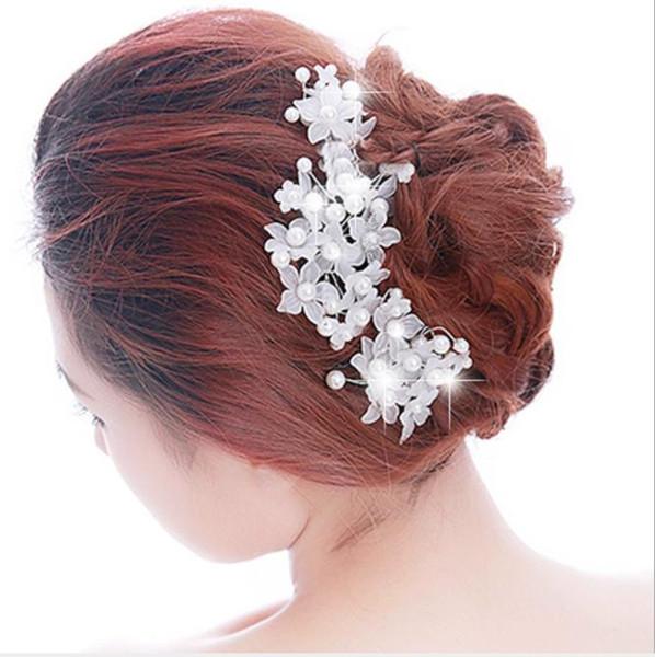 Handmade lace Pearl Bridal headwear, Korean wedding dress, bridal hair, bride hairpin