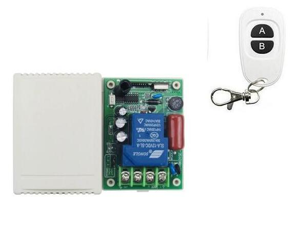 rf 433,315M 30A AC 220V 1CH, Relay Remote Control Switch RF Wireless Remote Controller for LED /Lamp/ Motor, /Water, pump 3000W