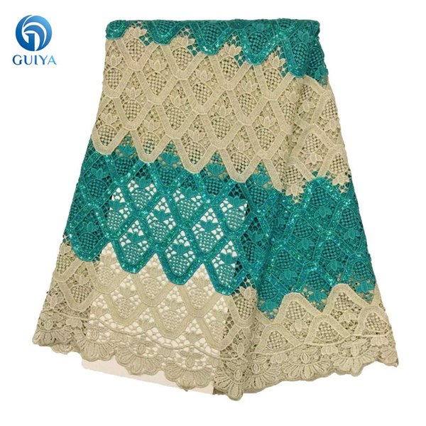 2018 New Design African Lace Fabric Guipure Lace Multi Color Cord Lace For Wedding Dress GYMC0026