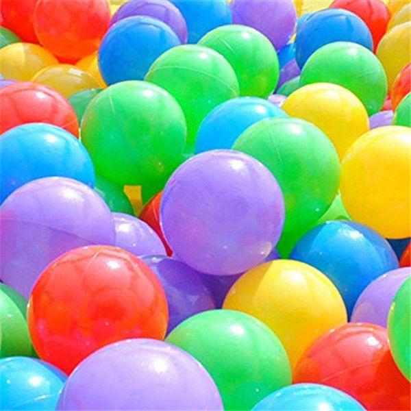 100pcs Ball Pit Balls, Soft Plastic Kids Play Balls BPA Free Crush Proof Ocean Balls For Baby Toddler Ball Pit, Kiddie Pool, Indoor Playpen