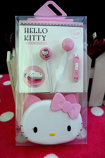 Nouveau Bonjour kitty Ecouteur oreille microphone MP4 MP3 Mobile Phone Laptop iphone yey-k525