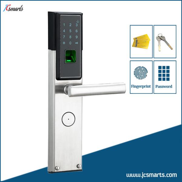 Cerradura de puerta digital cerradura de combinación cerradura biométrica para exteriores con lector de huellas digitales, lector de tarjetas y teclado numérico