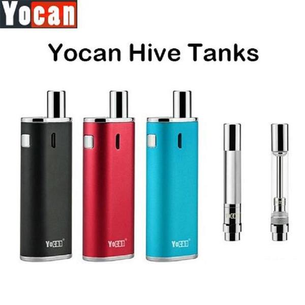 Yocan Hive Kit Wax Oil 2 in 1 Box Kit with 650mah Battery 0.5ml CE3 Wax Oil Atomizer Vape Cartridge E Cigarette Vaporizer Kit DHL FREE