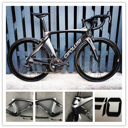 Cipollini RB1K ANTHRACITE SHINY Carbon Road Complete Bike Bicycle With Ultegra 5800 R8000 Groupset 50mm carbon road wheelset