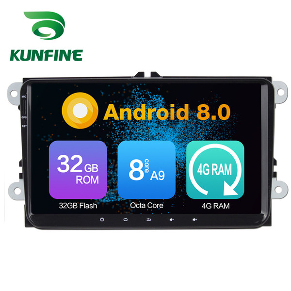 Octa Core 4 GB RAM Android 8.0 Car DVD GPS Reproductor Multimedia Reproductor de Coche Estéreo para VW PASSAT (MK7) 2010-2011 Radio Headuint Wif