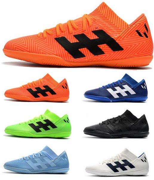 Moins cher 2018 Coupe du Monde Hommes Crampons de Football Nemeziz Messi Tango 18.3 IC Chaussures de Football En Intérieur Chaussures Tango 18 Bottes de Football Scarpe Calcio Chuteiras